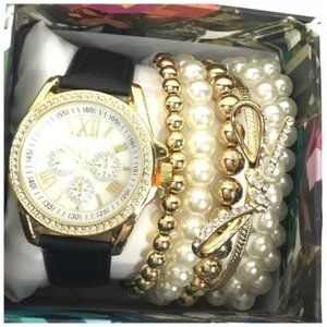 Accessories - Watch and Bracelets Set New in Gift Box